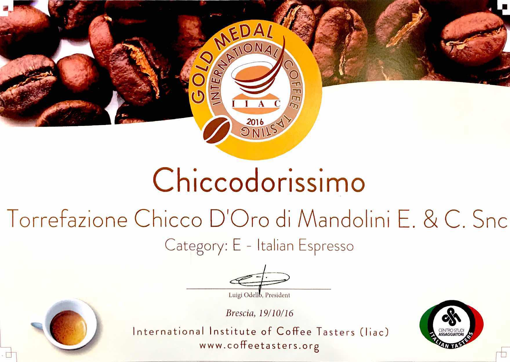 Torrefazione Caffè Chicco D'Oro | Internation Coffee Taster IIAC 2016 - Chiccodorissimo