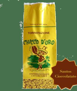 Torrefazione Caffè Chicco D'Oro | Caffè Santos Cioccolatato in grani, macinato per moka ed espresso