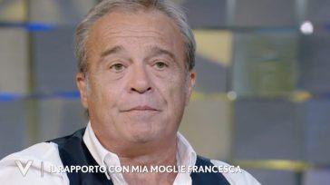 """""""Mia moglie Francesca è malata"""". Verissimo, la confessione di Claudio Amendola a Silvia Toffanin"""