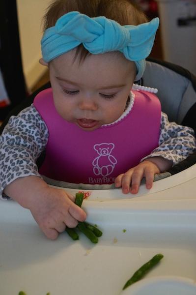 Lottie Rose eating Green Beans