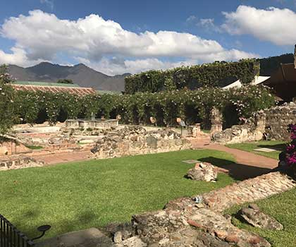 Antigua Hotel Grounds on Spring 2017 Guatemala Coffee Buying Trip