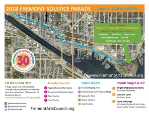 2018 Solstice Parade Route Map