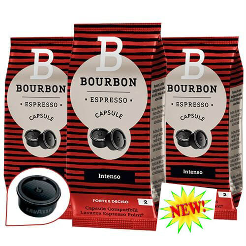 100 Capsule Caffè Bourbon Intenso Compatibili con Lavazza Espresso Point