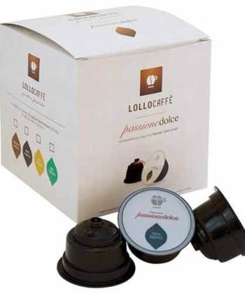 16 Capsule Lollo Caffè Passione Dolce Compatibili con Nescafé Dolce Gusto
