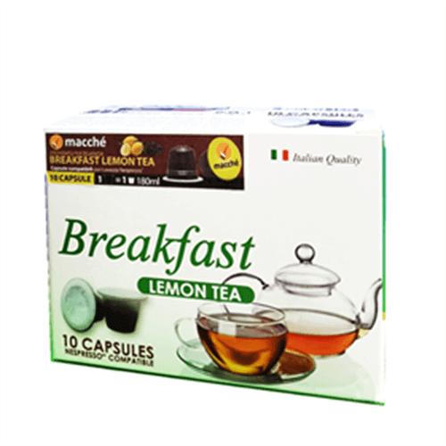 50 Capsule Macché Breakfast Lemon Tea Compatibili con Nespresso