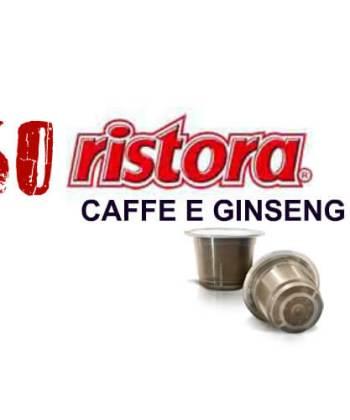 50 Capsule Ristora Caffè e Ginseng Compatibili con Nespresso