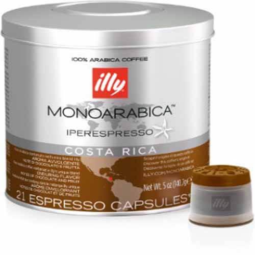 63 Capsule Illy Iperespresso Monoarabica Costa Rica Compatibili con Illy
