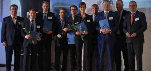 In guter Gesellschaft: Dr. Asbjörn Gärtner (2. v.l.) mit den weiteren Preisträgern des gif Forschungspreises 2014