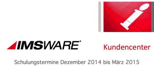 IMS bietet bis Dezember 2015 insgesamt 24 verschiedene Schulungen zu IMSWARE an