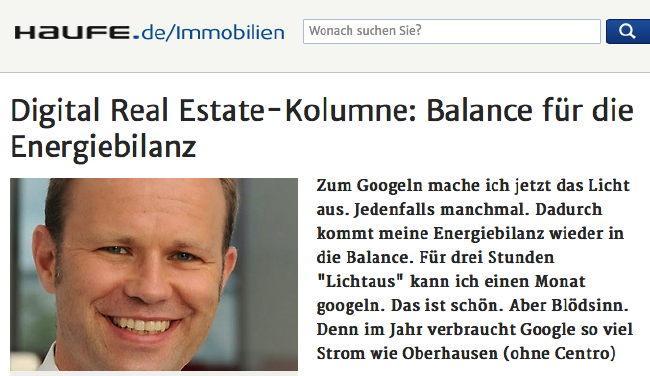 Michael Heinrichs von IMS reiht sich in die Digital Real Estate Kolumnen der immobilienwirtschaft ein