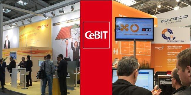 Auf der CeBIT 2015 finden sich aus CAFM-Bereich unter anderem Infoma und N+P