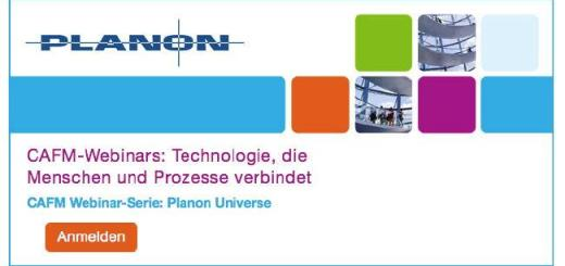 Mit vier Webwaren möchte Planon im Juni seine neue CAFM-Software Planon Universe den Anwendern näher bringen