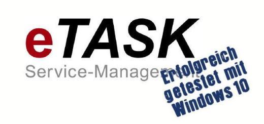 Nach IMSWARE gibt jetzt auch eTask seine Kompatibilität zu Windows 10 bekannt