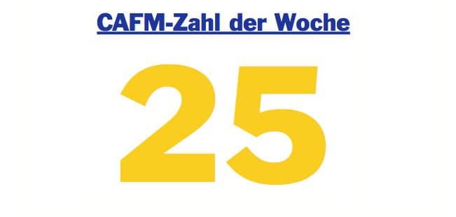 Die CAFM-Zahl der Woche ist 25, denn das ist der Prozentsatz an Energie, den die Bundesregierung mit der EnEV einsparen möchte