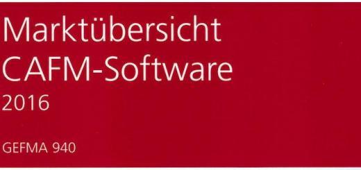 Ab sofort ist die Marktübersicht CAFM-Software 2016, auch als GEFMA 940 bekannt, erhältlich