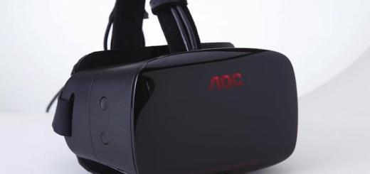 Unter der Bezeichnung HMD hat Monitor-Hersteller AOC auf der GAmescom seinen Prototypen einer Virtual Reality Brille vorgestellt