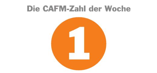 Die CAFM-Zahl der Woche ist diese Mal die 1 – aus mehr als 1 Grund