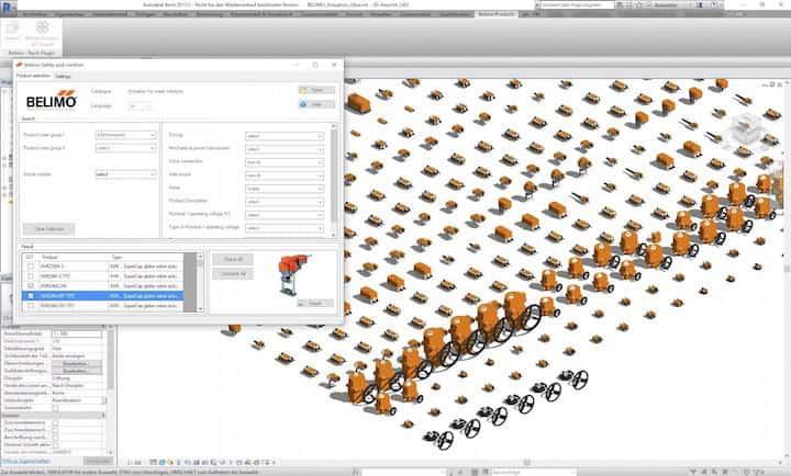 Mit den neuen VDI-konformen Plug-ins von Pit-cup lassen sich Bibliotheken von Belimo und Siemens einfach in Revit-Projekte inportieren