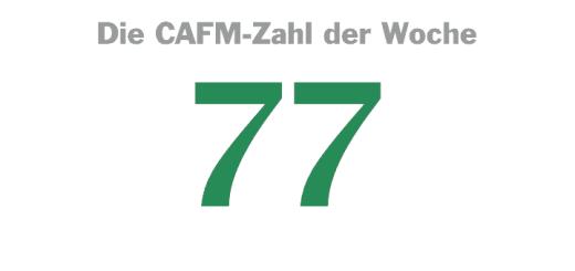 Die CAFM-Zahl der Woche ist die 77, denn 77 Prozent der befragten Unternehmen in der Immobilien-Wirtschaft sehen sich auf dem Weg in die Digitalisierung