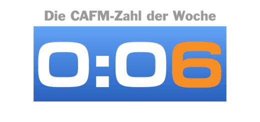 Die CAFM-Zahl der Woche ist dieses Mal die 6, weil derzeit viele Uhren stromnetzbedingt 6 Minuten nachgehen.