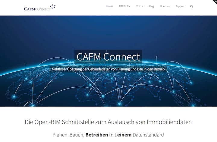 Der CAFM Ring hat seiner Datenschnittstelle CAFM Connect eine eigene Website spendiert