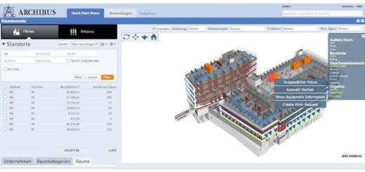 Archibus hat ein Bauprojekt begleitet, bei dem aus seinem modifizierten BIM-Modell Daten an das CAFM-System übergeben wurden[/