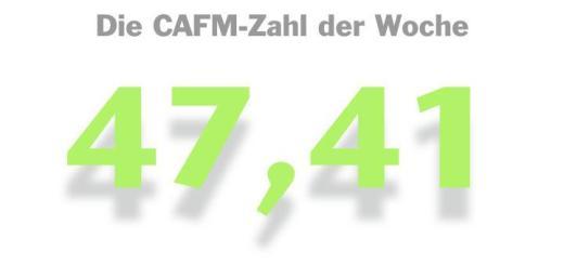 Die CAFM-Zahl der Woche ist die 47,41 – für die Anzahl Monate, die zwischen zwei Ausschreibungen liegen