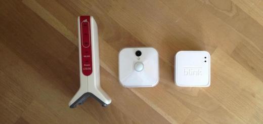 Die Zutaten für ein Überwachungs-System jenseits von DSL- und kabelanschluss: Fritz!Box 6820 LTE, Blink Classic Kamera und Blink Sync Modul