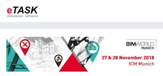 eTask ist mit einem Stand und zwei beiträgen auf der BIM World Munich 2018 präsent