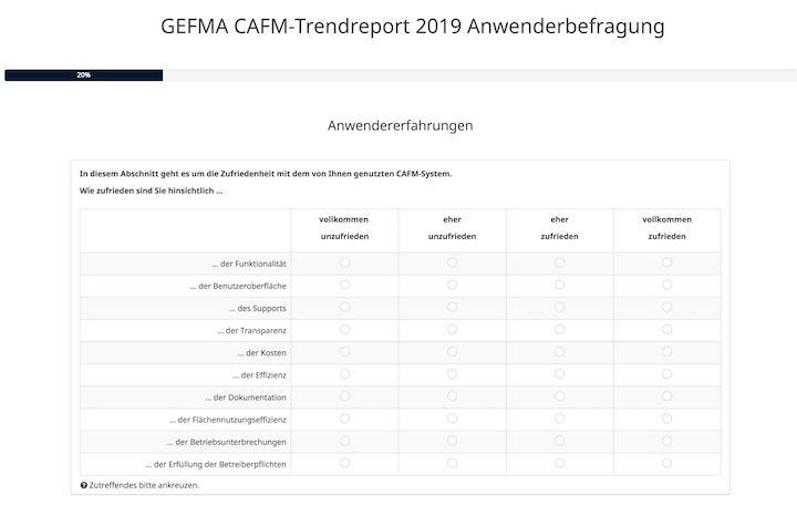 Der CAFM-Trendreport der GEFMA erhebt von Lünendonk & Hossenfelder unterstützt wieder Daten bei Anwendern und Anbietern
