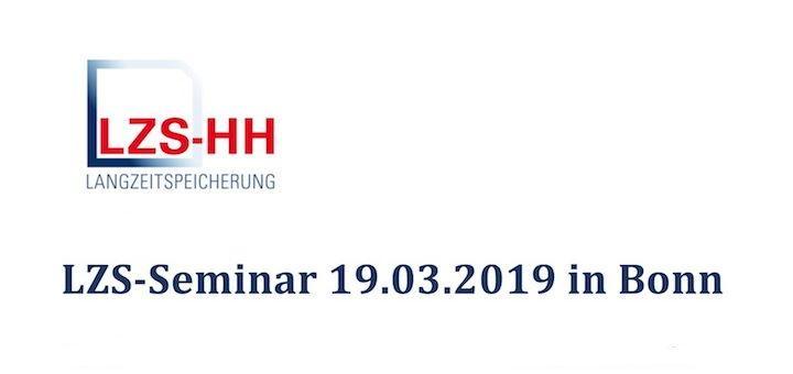 Am 19. März gibt es in Bonn ein Seminar zur Langzeitspeicherung von Geodaten