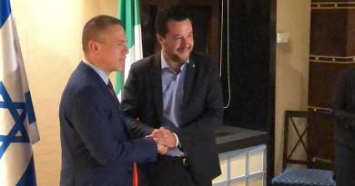 Salvini in Israele per una visita istituzionale