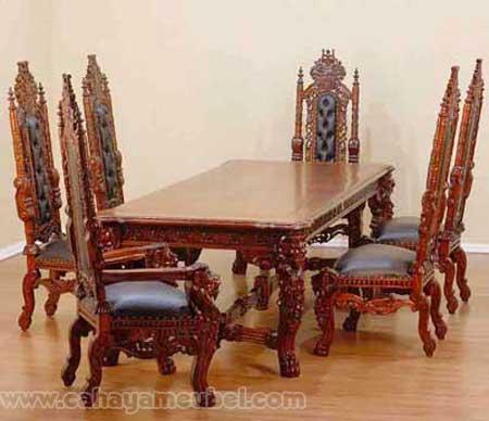 Set Meja Makan Raja 6 Kursi