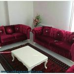 Sofa Tamu Minimalis Full Jok Bludru