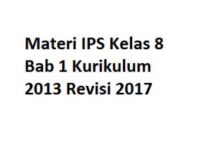 Materi IPS Kelas 8 Bab 1 Kurikulum 2013 Revisi 2017