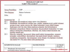 Prota SMP MTS Lengkap Semua Mata Pelajaran Kurikulum 2013 Revisi