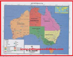 Letak dan Luas Benua Australia