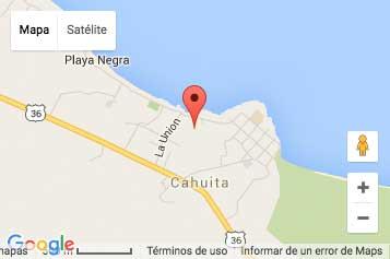 Mapa de Cahuita