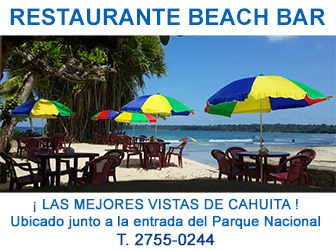 Restaurante Beach Bar en Cahuita