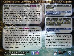 Calendario Corsi Canyoning 2019 – Commissione Forre CAI Cagliari