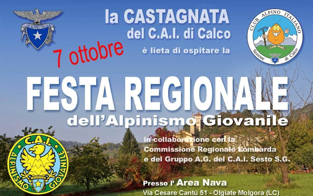 Festa regionale dell'alpinismo giovanile – 7 ottobre 2018
