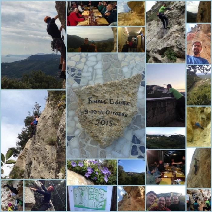 Momenti durante l'uscita arrampicatoria in quel di Finale Ligure.