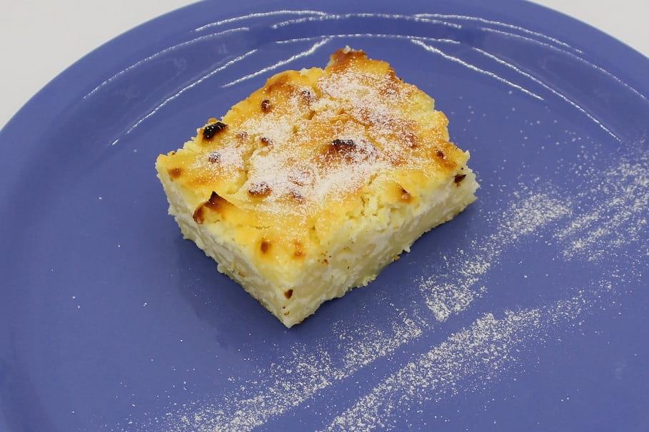 budincă de paste cu brânză