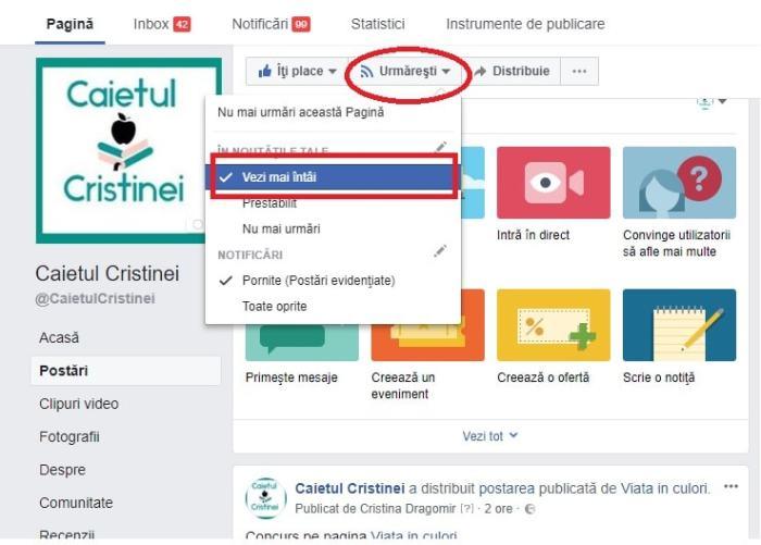 vei mai intai see first facebook setare