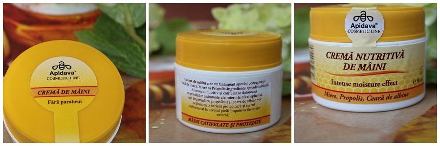 Crema nutritivă de mâini cu miere, propolis și ceară de albine