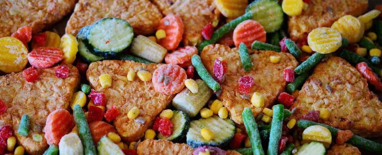 mâncare congelată legume congelate