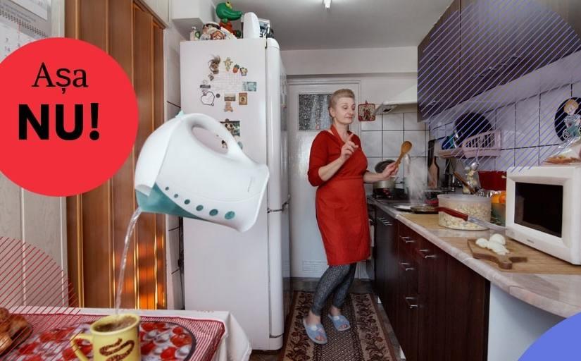 amenajarea unei bucătării mici