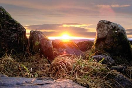 Midwinter sunrise Belmaduthy Cairn - Black isle