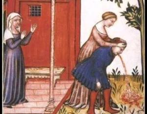 Even in Medieval times folks puked their brains out ...