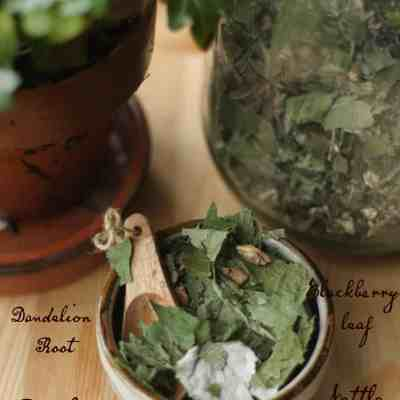 Dark Valley - Herbs in bowl large jar and ivy